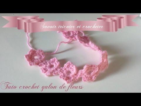 Bracelet fleur en crochet