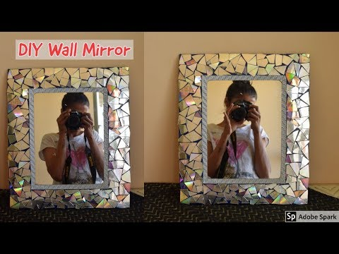 Diy Quick and Easy Glam Wall Mirror Decor| Wall Decorating Idea! |parul pawar