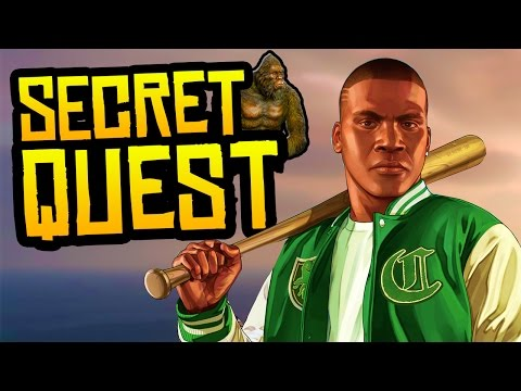 GTA 5 STORYMODE - SECRET ENDING SCENE + BOSS FIGHT WALKTHROUGH! (GTA 5 Bigfoot vs Beast)