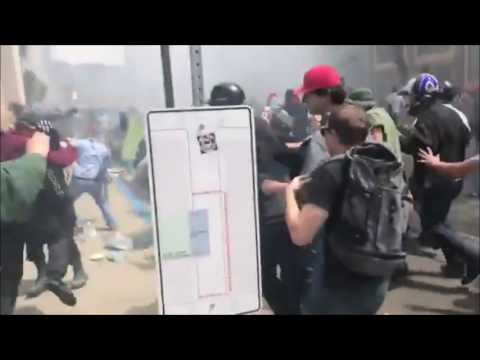 Thumbnail: Pro and anti-Trump supporters clash at Berkeley rally
