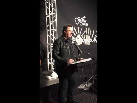 RockWalk Rock and Roll Hall of Fame Inductee Vince Gill 2016