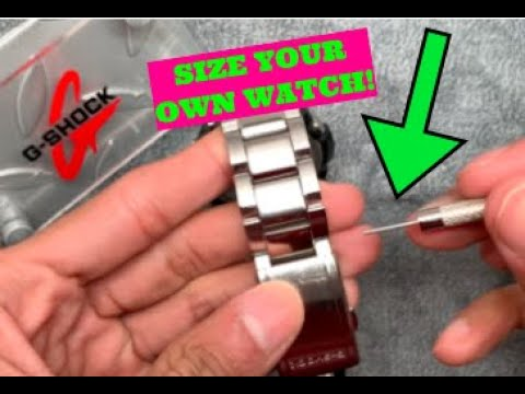 How To EASILY Size Your Metal Watch Band - Link Removal G-Shock Casio