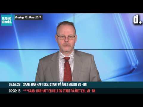 Trading Direkt 2017-03-10 Positiv avslutning på veckan, Peptonic-krasch