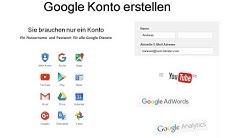 Google Konto erstellen - So gehts!