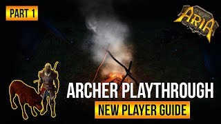 NEW PLAYER GUIDE - Archer Playthrough Part 1| Legends of Aria (Ultima Online 2)