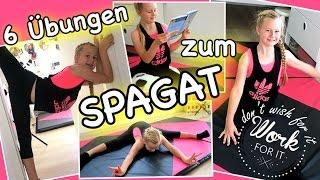Mavie's Turnstunde😍mit 6 Übungen zum Spagat 😍Turnen/Gymnastik Anfänger