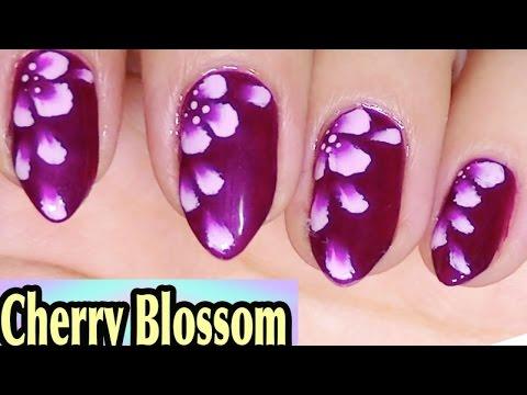 Cherry Blossom Nail Art,Simple,Elegant,One Stroke Painting ...