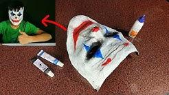 How to make 3d Joker mask from paper   Easy for DIY  