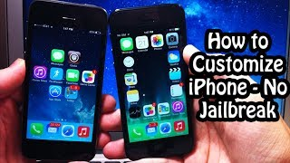 How to Customize iPhone, iPod, for Free - No Jailbreak Required!