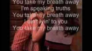 take my breath away elliott yamin lyrics on screen