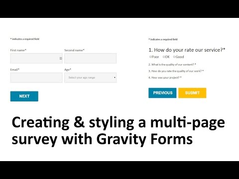 Styling Gravity Forms Tutorial 2014 - Create a multi-page website survey