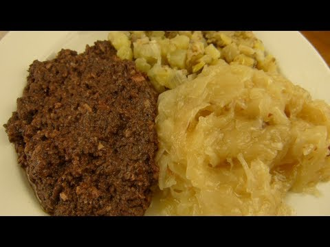 MAGO - German Blutwurst (Blood Sausage) | Specksalat (Bacon Potato Salad) | Sauerkraut