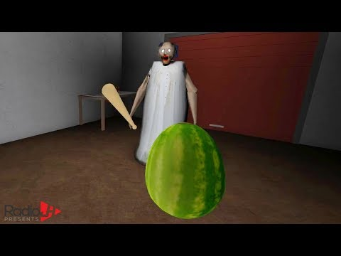 GRANNY Does The WATERMELON CHALLENGE | RadioJH Games & Gamer Chad