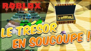 TREASURY TO BUILD A BOAT IN FLYING SAUCER!  Roblox with Mary