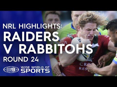 NRL Highlights: Canberra Raiders v South Sydney Rabbitohs - Round 24