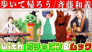 【歌ってみた】歩いて帰ろう / 斉藤和義 covered by 恭一郎 & LambSoars with ガチャピン&ムック