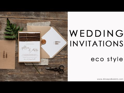 Wedding invitations with wood