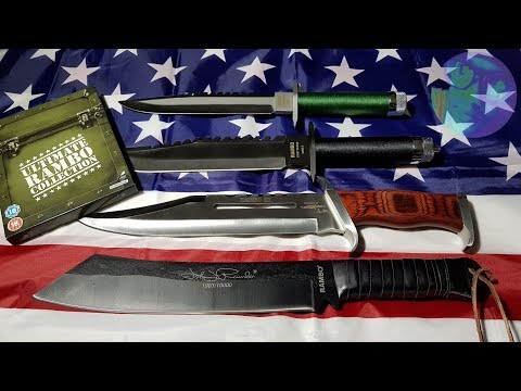 ULTIMATE RAMBO MOVIE SURVIVAL KNIFE COLLECTION UNBOXING