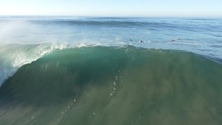 4k Aerial 56th Street Newport Beach // Hurricane Marie Swell