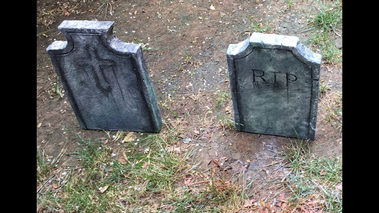 how to make your own halloween tombstone - youtube