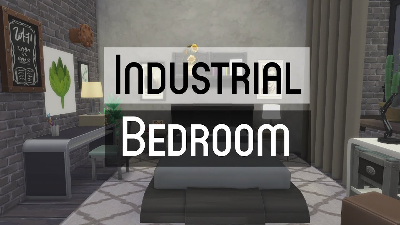the sims 4 | room build - industrial bedroom - youtube