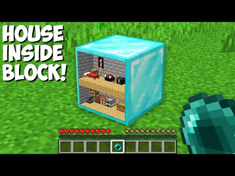How to LIVE INSIDE a DIAMOND BLOCK in Minecraft ? HOUSE INSIDE BLOCK !