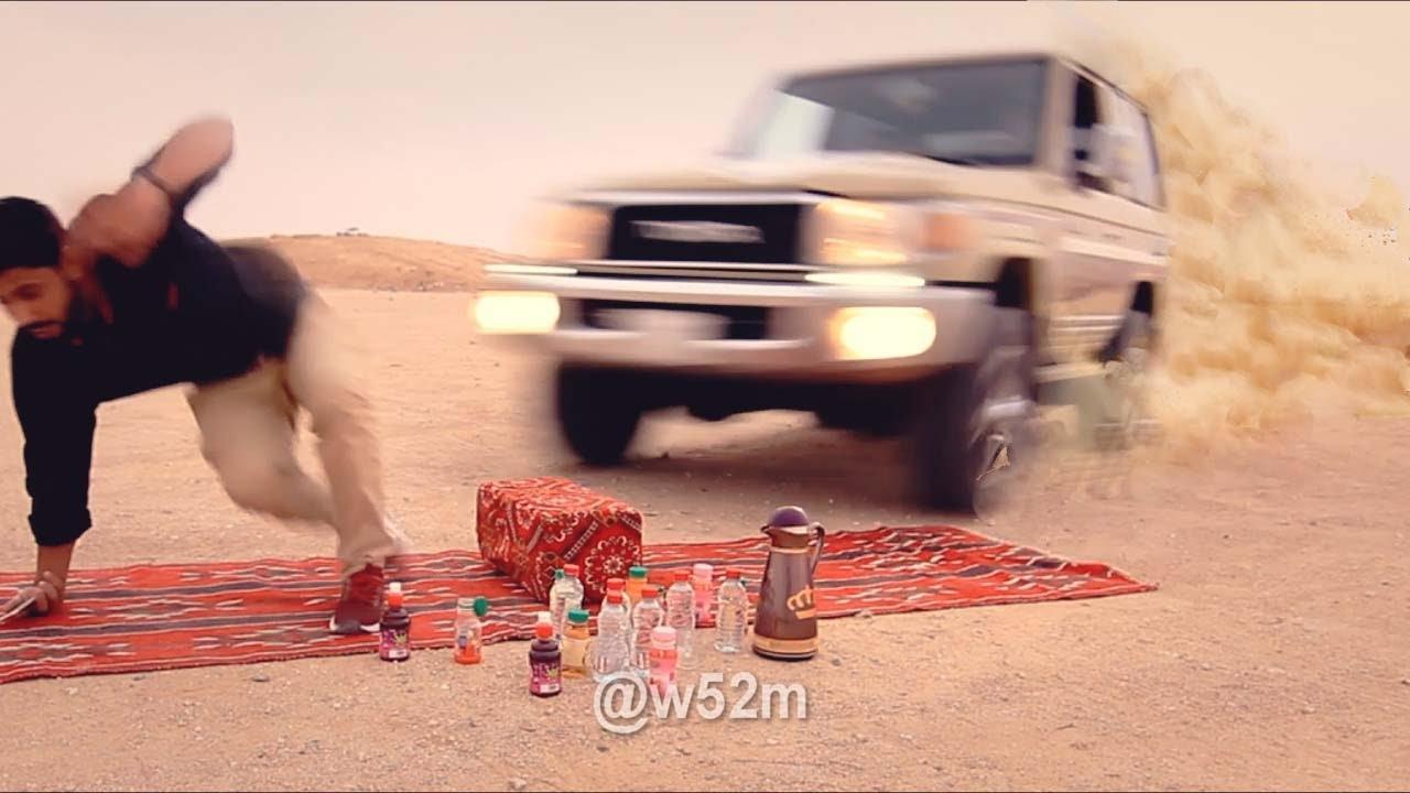 صورة فيديو : سيارة تصدم شاعر مهايطي #مهند_ميديا_w52m@