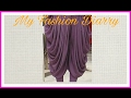 DHOTI SALWAR WITH FULL PLEATS ,drafting,pattern,cutting, stitching