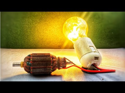 2018 Electric dynamo motor for free energy generator 100% - How to make science experiment at home