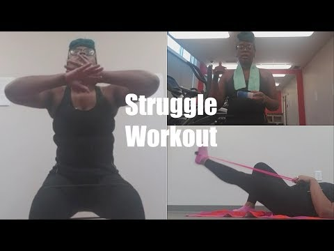 Struggle Workout Using Dollar Tree Excercise Products!