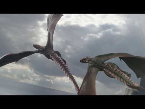 Дейенерис теряет второго Дракона (Рейгаля) Игра Престолов 8 сезон 4 серия