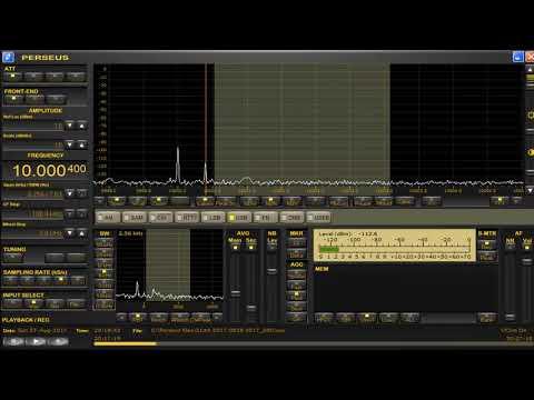 10000.4 kHz Brazil Time station odd frequency Aug 27,2017 2017 UTC