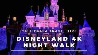 Disneyland Walkthrough 4K - Night Walk from Main Street to Star Wars Land - Treadmill Workouts