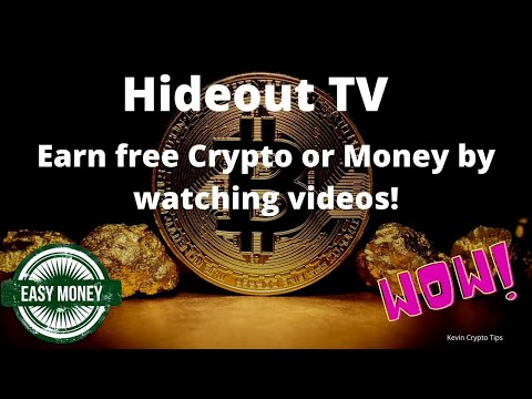 HideoutTV  Earn free Crypto & Money by watching videos