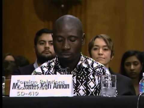 James Kofi Annan Testimony at Senate Foreign Relations Committee Hearing on Ending Slavery