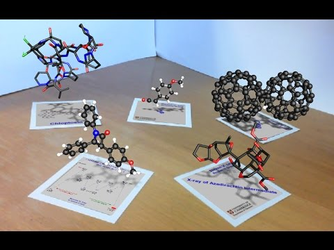 Web-based interactive 3D molecular viewer with Augmented Reality & Holographic Display