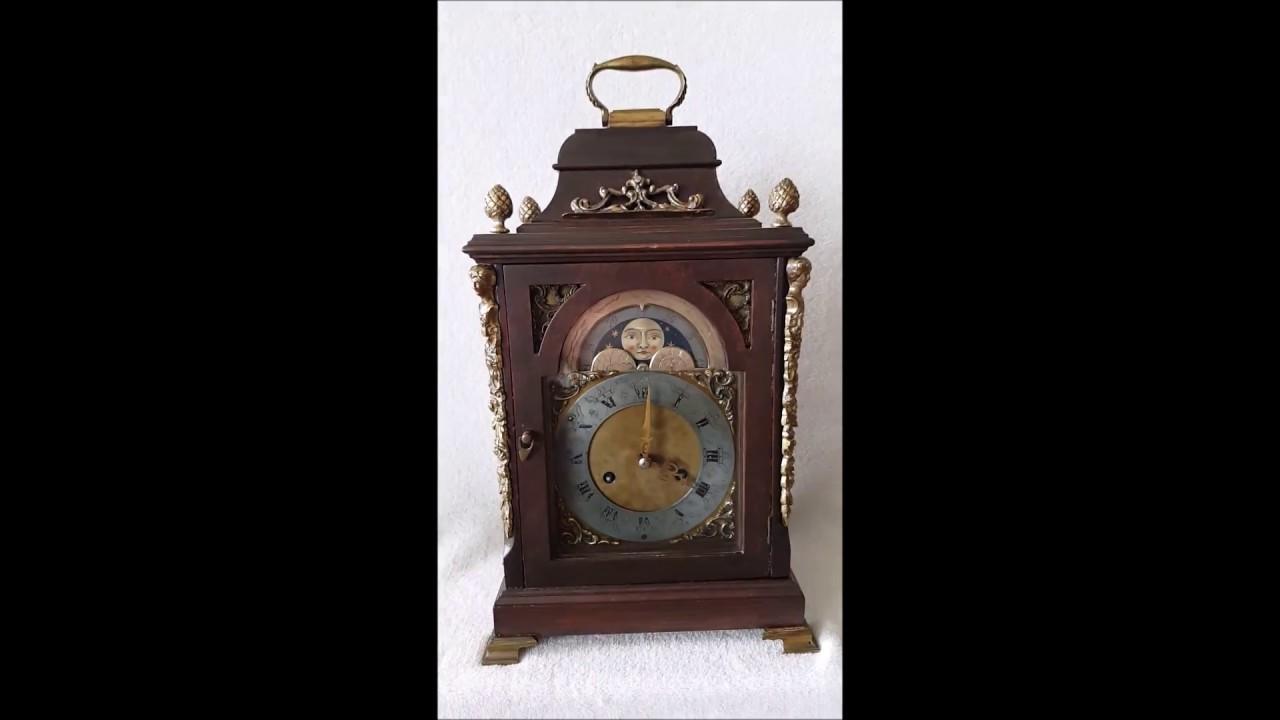 Big antique bracket mantel clock urgos 8 day pendulum movment big antique bracket mantel clock urgos 8 day pendulum movment painted moonphase amipublicfo Choice Image