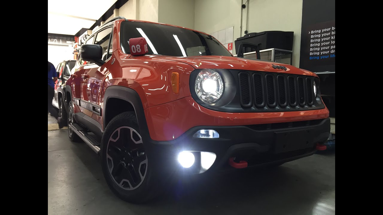 Lifted Jeep Renegade >> Jeep Renegade - Lâmpadas de led - Lâmpadas Superled - Auto330 Acessórios - YouTube