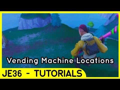 ALL  NEW  VENDING MACHINE LOCATIONS!!!   Fortnite Explaination   Tutorial For Playground Season 6