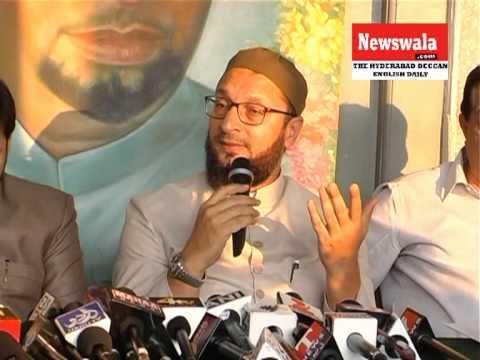 Asaduddin Owaisi, President AIMIM In A Press Meet At Darussalam Hyderabad