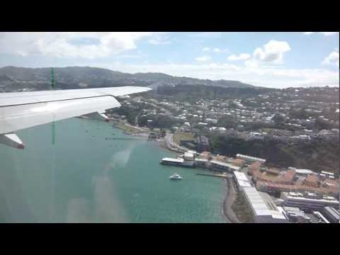 Air New Zealand - Scenic Approach and Landing into Wellington Airport from Auckland