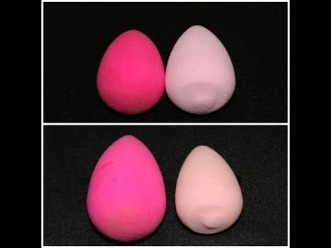 real vs fake beauty blender water test youtube