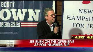 Jeb Bush on the offensive as poll numbers slip