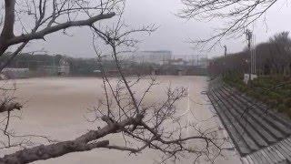 嘉穂高校からイオンが見える。このあたり一帯がすべて広岡浅子の炭鉱で...