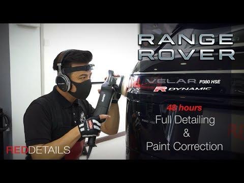 """Range Rover """" Velar """" Santorini Black Full Detailing & Paint Correction"""