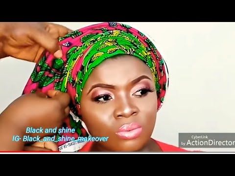 STEP BY STEP ON HOW TO TIE ROUND GELE WITH ANKARA + FULL BACK TUTORIAL.