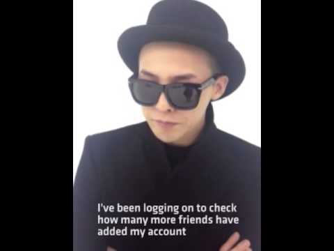 G-Dragon sending greetings to all LINE Fans