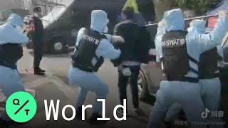 China SWAT Team Practices Taking Down Uncooperative Driver At Coronavirus Checkpoint