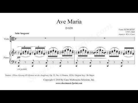 Schubert : Ave Maria - Viola