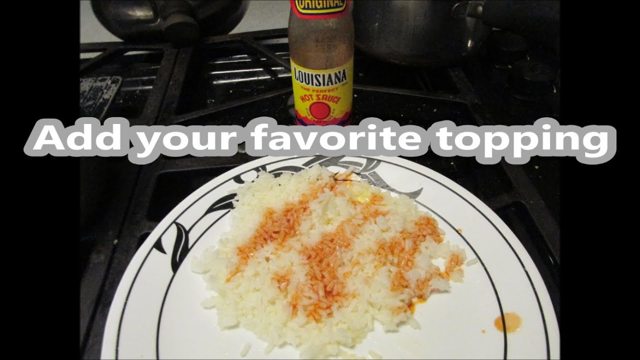how to cook white rice without a rice cooker